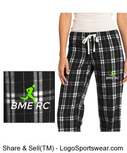 District Women's Flannel Plaid Pants Design Zoom